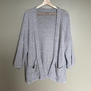Aerie grey chunky knit long open duster size medium